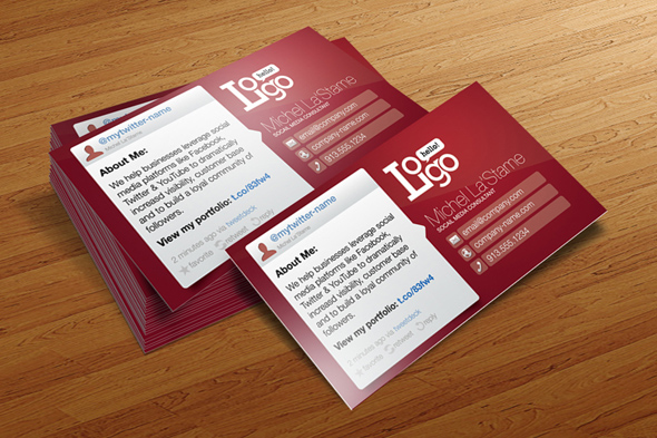 Social media business card template free cursive q designs social media business card template free reheart Image collections