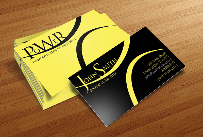 Power - Free Business Card Template