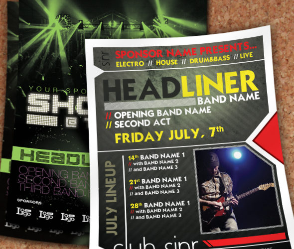 Flyer Set - Concert or Club Template