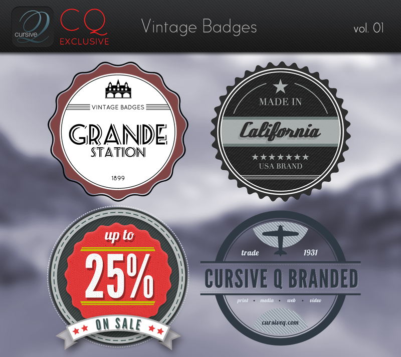 Free Vintage Badges Template