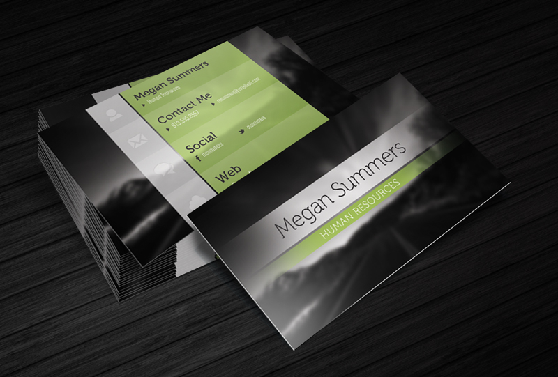 Simple Scene - Free Business Card Template