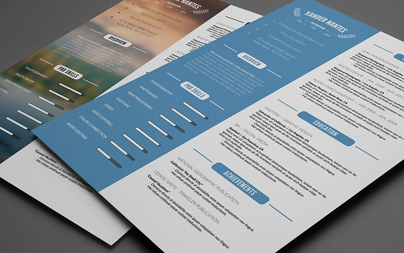 Clean Resume Template Photoshop PSD