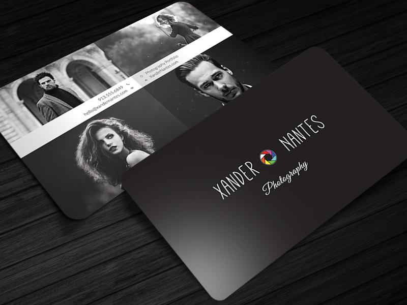 QuadPix - Photographer Business Card Photoshop Template | Cursive Q