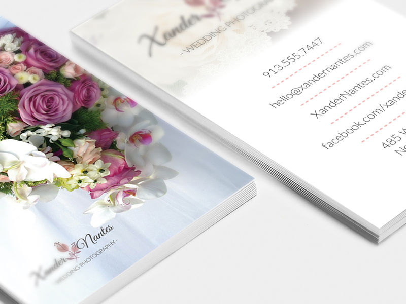 Wedding Photographer Business Card Template Photoshop Cursive Q - Business card template for photoshop