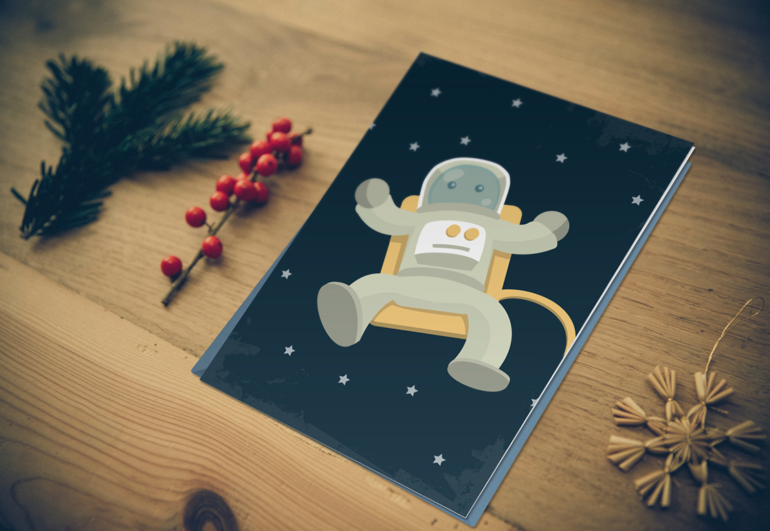 greeting card mockup graphic