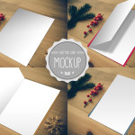 Greeting Card Mockup Graphic - Photoshop PSD Template