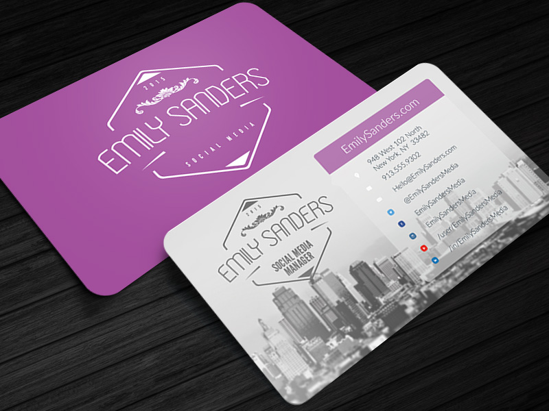 social box social media business card photoshop template