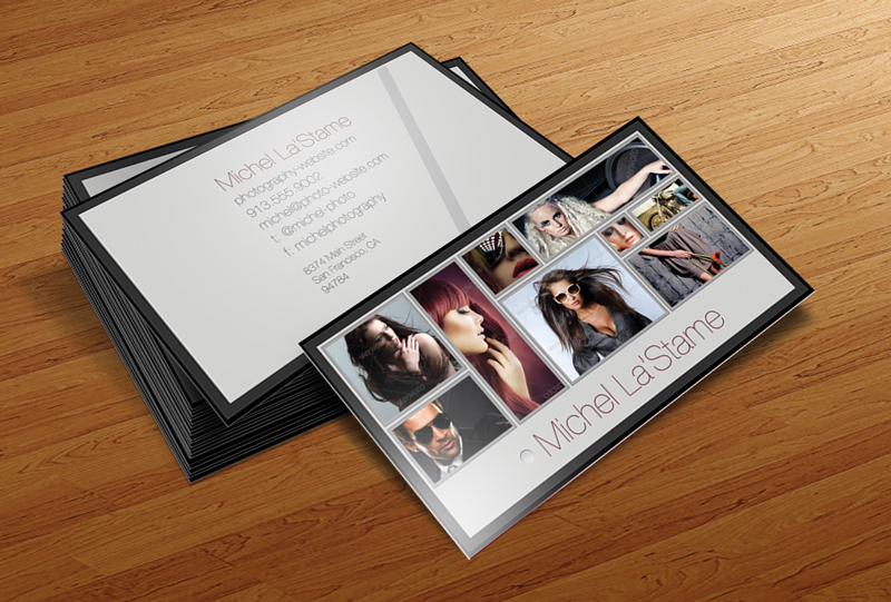 Free Photographer Business Card Photoshop Template