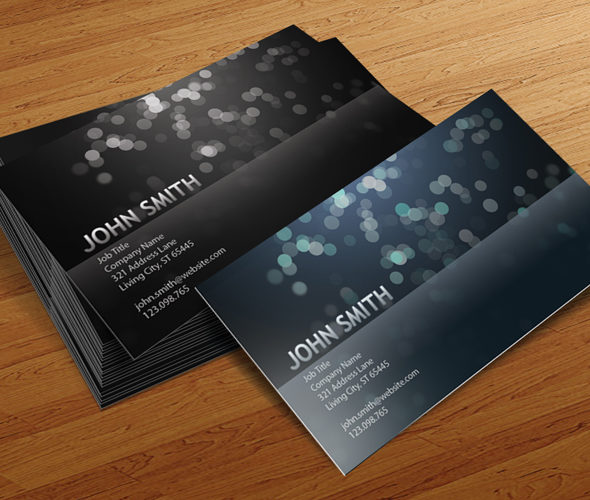 Blurry Circles - Free Business Card Template