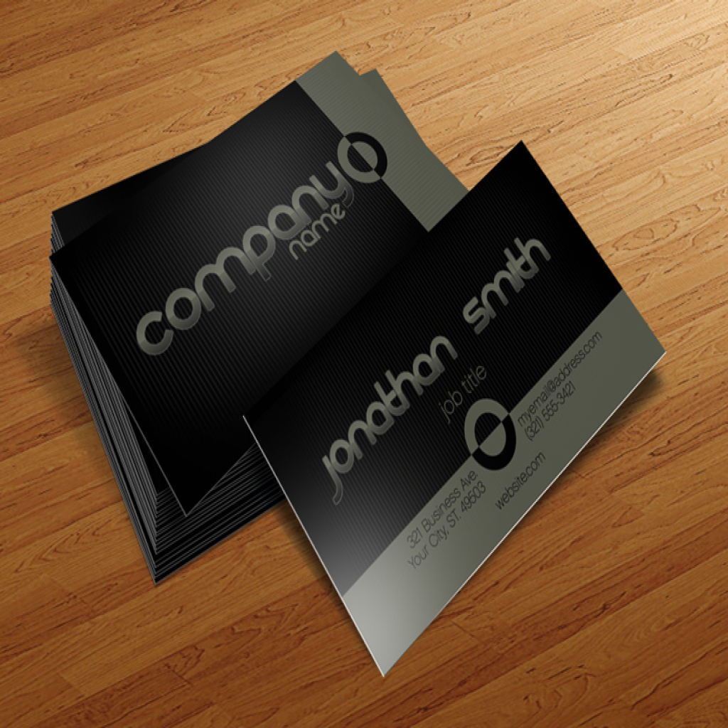 Basic - Free Business Card Template for Photoshop | Cursive Q