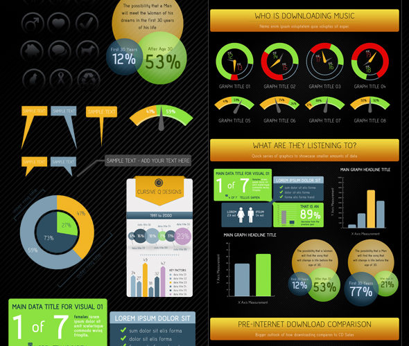 Infographic Template Charts Graphs