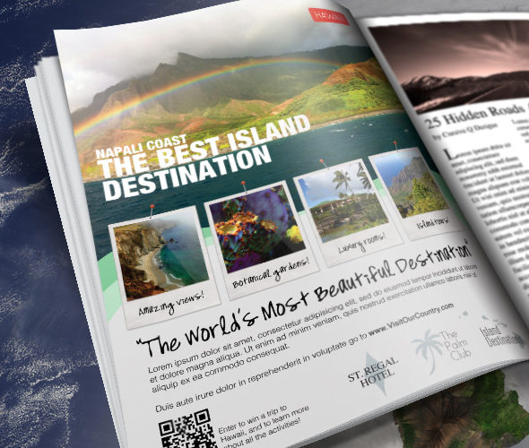 Travel Print Ad Flyer Template