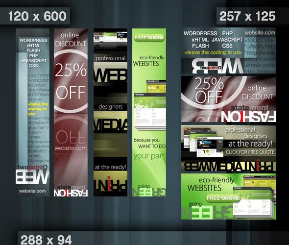Web Advertisement Banner Templates