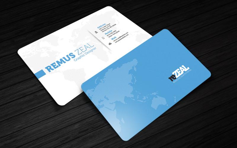 reZEAL Free Corporate Business Card Photoshop Template