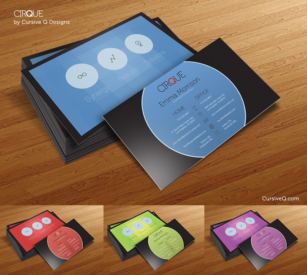 Cirque - Free Business Card Template