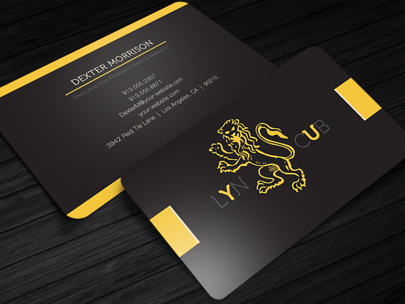 Red Tie Free Business Card Photoshop PSD Template Cursive Q - Business card photoshop template