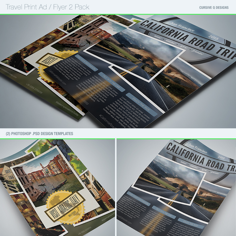 Travel Print Ad Flyer Photoshop Template