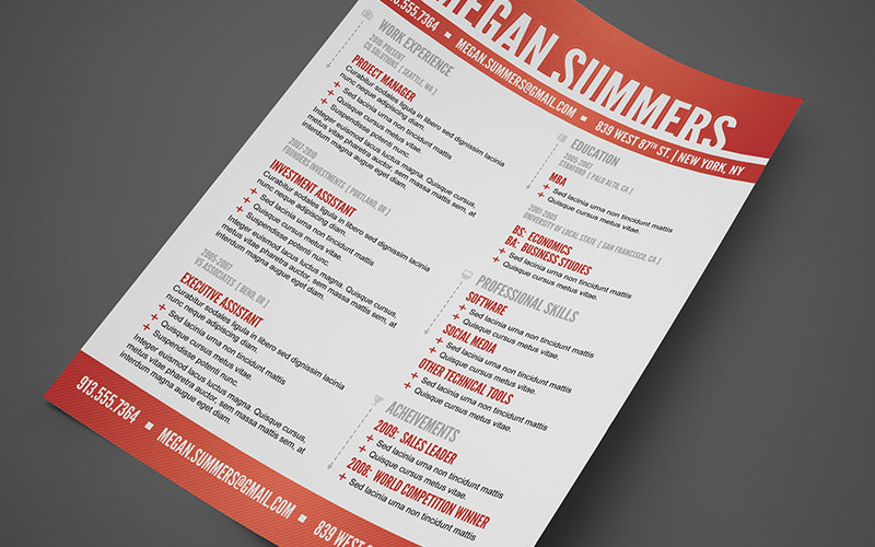 free swiss resume photoshop template - Resume Free Download