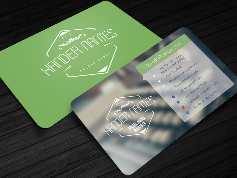 Social Media Business Card Photoshop Template