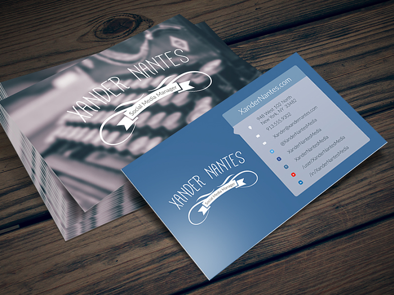 Social box social media business card photoshop template cursive q social box social media business card photoshop template accmission Image collections