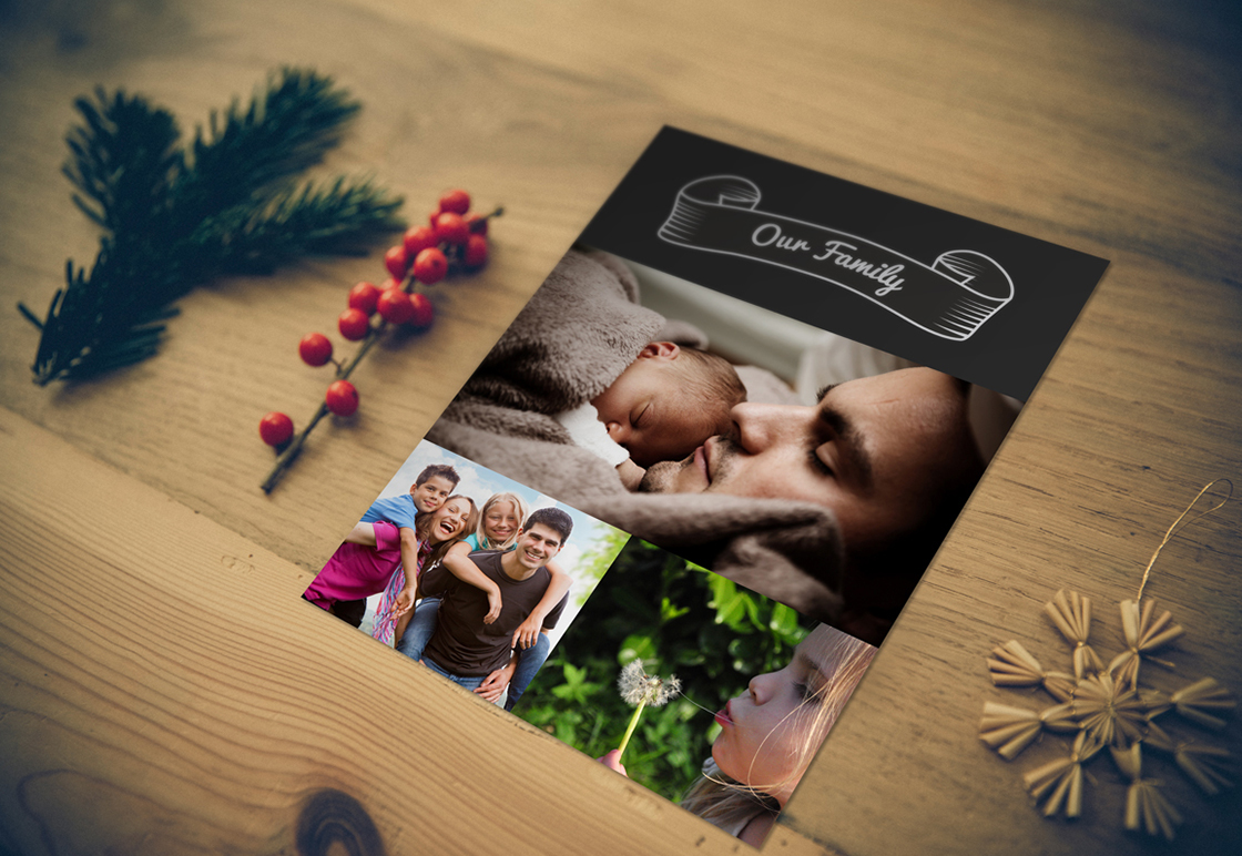 Greeting Card Mockup Graphic Photoshop Psd Template